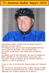 Radlerrückblick 2010